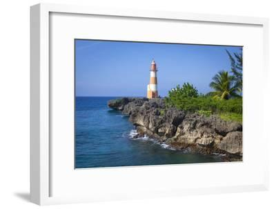 The Picturesque Folly Point Lighthouse, Jamaica-Doug Pearson-Framed Photographic Print
