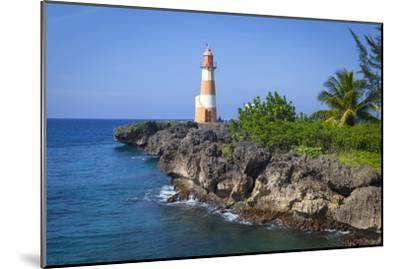 The Picturesque Folly Point Lighthouse, Jamaica-Doug Pearson-Mounted Photographic Print