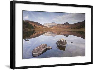 Blea Tarn and the Langdale Pikes.-Julian Elliott Photography-Framed Photographic Print