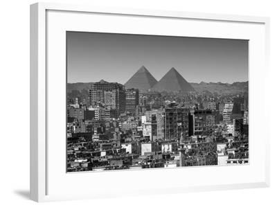 Cityscape of Cairo, Pyramids, Egypt-Anik Messier-Framed Photographic Print
