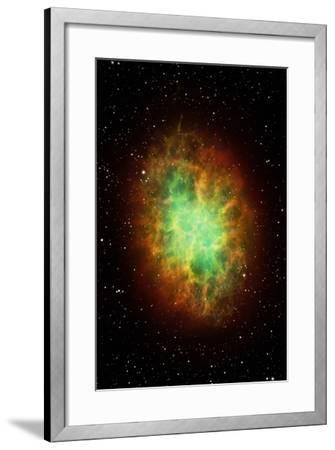 Artwork of the Crab Nebula (M1)-Science Photo Library - MARK GARLICK-Framed Photographic Print