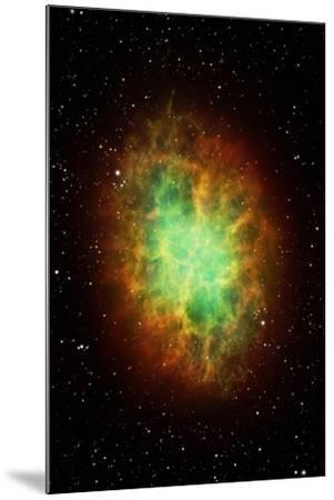 Artwork of the Crab Nebula (M1)-Science Photo Library - MARK GARLICK-Mounted Photographic Print