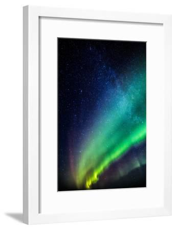 Milky Way and Aurora Borealis, Iceland-Arctic-Images-Framed Photographic Print