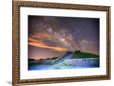 Milky Way Galaxy-chenning.sung @ Taiwan-Framed Photographic Print