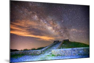 Milky Way Galaxy-chenning.sung @ Taiwan-Mounted Photographic Print