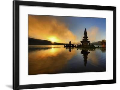 Pura Ulun Danu Bratan Water Temple-by toonman-Framed Photographic Print