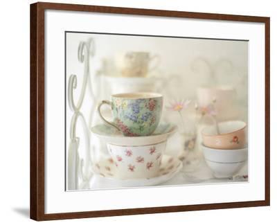 Teacups on White-Sharon Lapkin-Framed Photographic Print