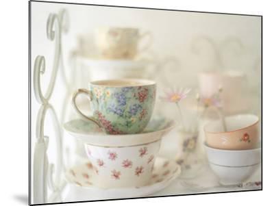 Teacups on White-Sharon Lapkin-Mounted Photographic Print