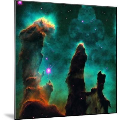 Gaseous Pillars in the Eagle Nebula-Digital Vision.-Mounted Photographic Print
