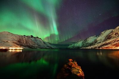 Nightview in the Fjord-John Hemmingsen-Framed Photographic Print