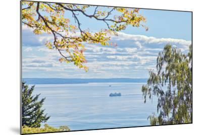 View of Ferry on Puget Sound-Mel Curtis-Mounted Photographic Print