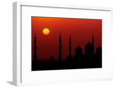 Sunrise at Sheikh Zayed Grand Mosque-Figurative Speech-Framed Photographic Print