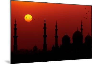 Sunrise at Sheikh Zayed Grand Mosque-Figurative Speech-Mounted Photographic Print