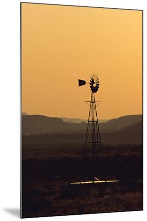 A Desert Windmill at Sunset-Wesley Hitt-Mounted Photographic Print