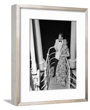 Couple in Evening Wear-George Marks-Framed Photographic Print