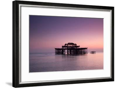 Ruins of West Pier.-Lucie Averill-Framed Photographic Print