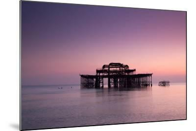 Ruins of West Pier.-Lucie Averill-Mounted Photographic Print