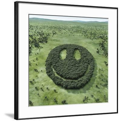 Forest Shaped Smiley-Hiroshi Watanabe-Framed Photographic Print