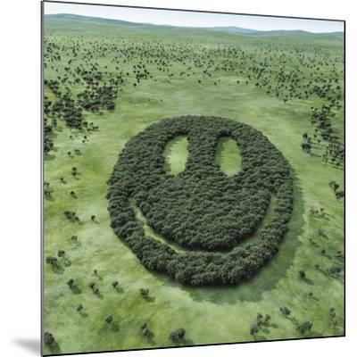 Forest Shaped Smiley-Hiroshi Watanabe-Mounted Photographic Print