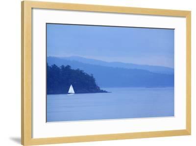 Sailboat on Ocean.-Grant Faint-Framed Photographic Print