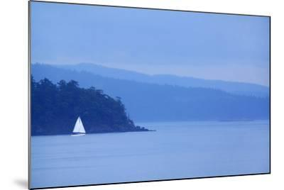 Sailboat on Ocean.-Grant Faint-Mounted Photographic Print