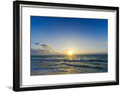Mexico, Yucatan, Riviera Maya, Cancun, Seascape at Sunset-Tetra Images-Framed Photographic Print