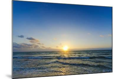 Mexico, Yucatan, Riviera Maya, Cancun, Seascape at Sunset-Tetra Images-Mounted Photographic Print