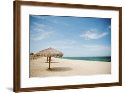 Beach Umbrella-Christopher Kimmel-Framed Photographic Print
