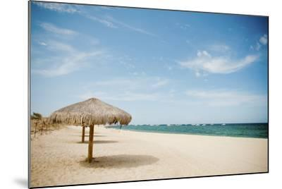 Beach Umbrella-Christopher Kimmel-Mounted Photographic Print