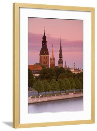 Bell Towers and Spires in Riga's Old Town-Doug Pearson-Framed Photographic Print