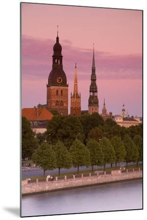Bell Towers and Spires in Riga's Old Town-Doug Pearson-Mounted Photographic Print