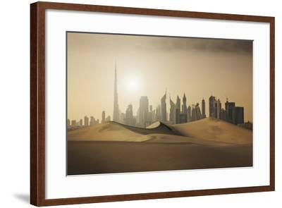 Futuristic City in the Desert-Buena Vista Images-Framed Photographic Print
