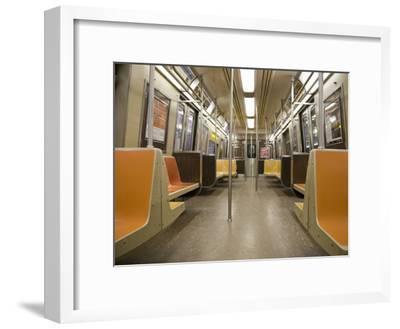 Inside a Subway Train, NYC-Pascal Preti-Framed Photographic Print