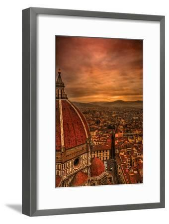 Florence Duomo at Sunset-McDonald P. Mirabile-Framed Photographic Print