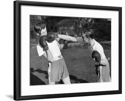 Boxer Twins-Greated-Framed Photographic Print