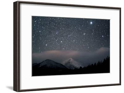 Stars over Rocky Mountain National Park-Pat Gaines-Framed Photographic Print