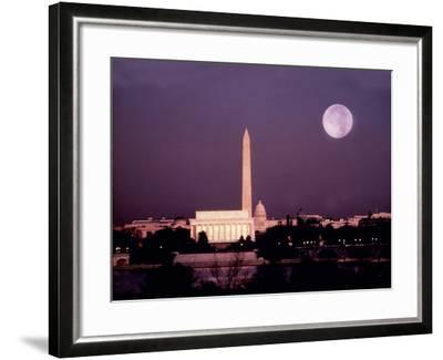 Washington with a Full Moon-Lyle Leduc-Framed Photographic Print