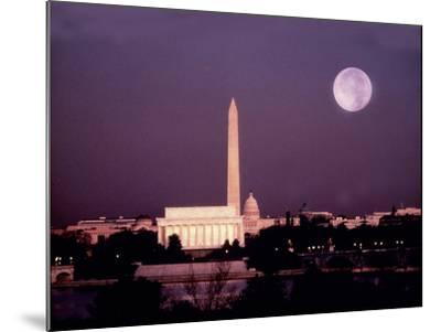 Washington with a Full Moon-Lyle Leduc-Mounted Photographic Print
