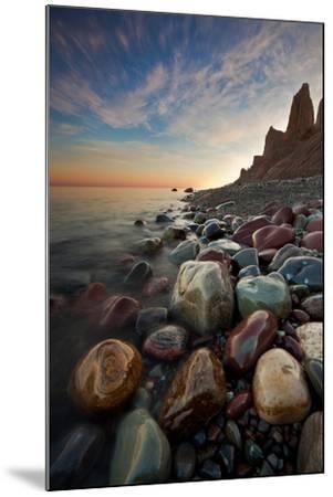 Sunrise at Chimney Bluffs-David Copley-Mounted Photographic Print