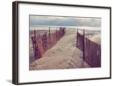Lake Michigan Beach-Trina Dopp Photography-Framed Photographic Print