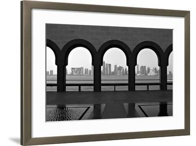 Doha Skyline from Museum-Gregory T. Smith-Framed Photographic Print