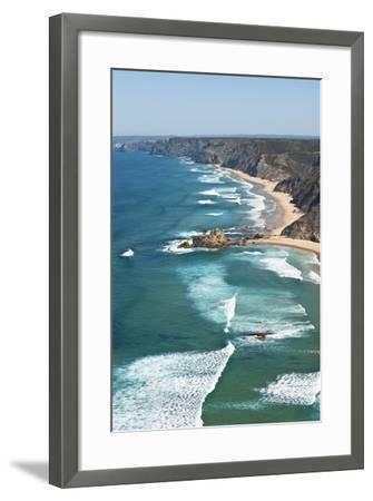 Portugal, Algarve, Sagres, View of Atlantic Ocean with Waves-Westend61-Framed Photographic Print