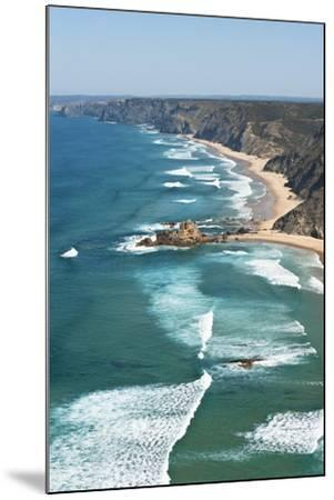Portugal, Algarve, Sagres, View of Atlantic Ocean with Waves-Westend61-Mounted Photographic Print