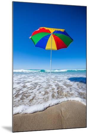 Umbrella at the Beach-John White Photos-Mounted Photographic Print