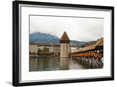 Kapellbrucke on Reuss River, Lucerne, Switzerland-Cultura Travel/Rosanna U-Framed Photographic Print