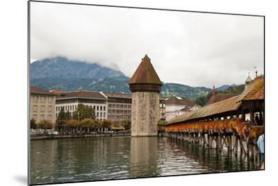 Kapellbrucke on Reuss River, Lucerne, Switzerland-Cultura Travel/Rosanna U-Mounted Photographic Print