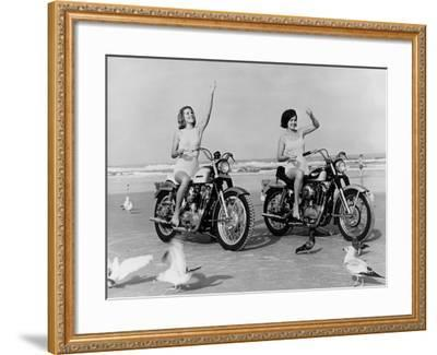 Beach Bikers-Fox Photos-Framed Photographic Print