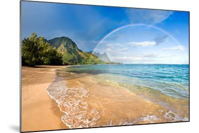 Rainbow Paradise Beach-M Swiet Productions-Mounted Photographic Print