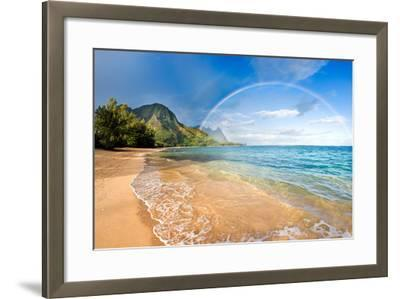 Rainbow Paradise Beach-M Swiet Productions-Framed Photographic Print