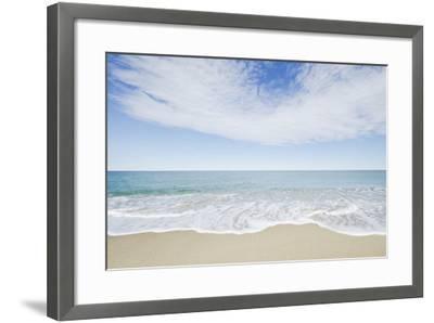 Empty Beach, Nantucket-Nine OK-Framed Photographic Print